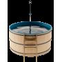 Японская баня Офуро и Фурако со встроенной печью и пластиковой вставкой