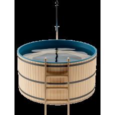 Японская баня Офуро и Фурако на 3-4 человека круглая со встроенной печью и пластиковой вставкой
