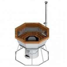 Банный чан для 4-7 человек на подставке с печью