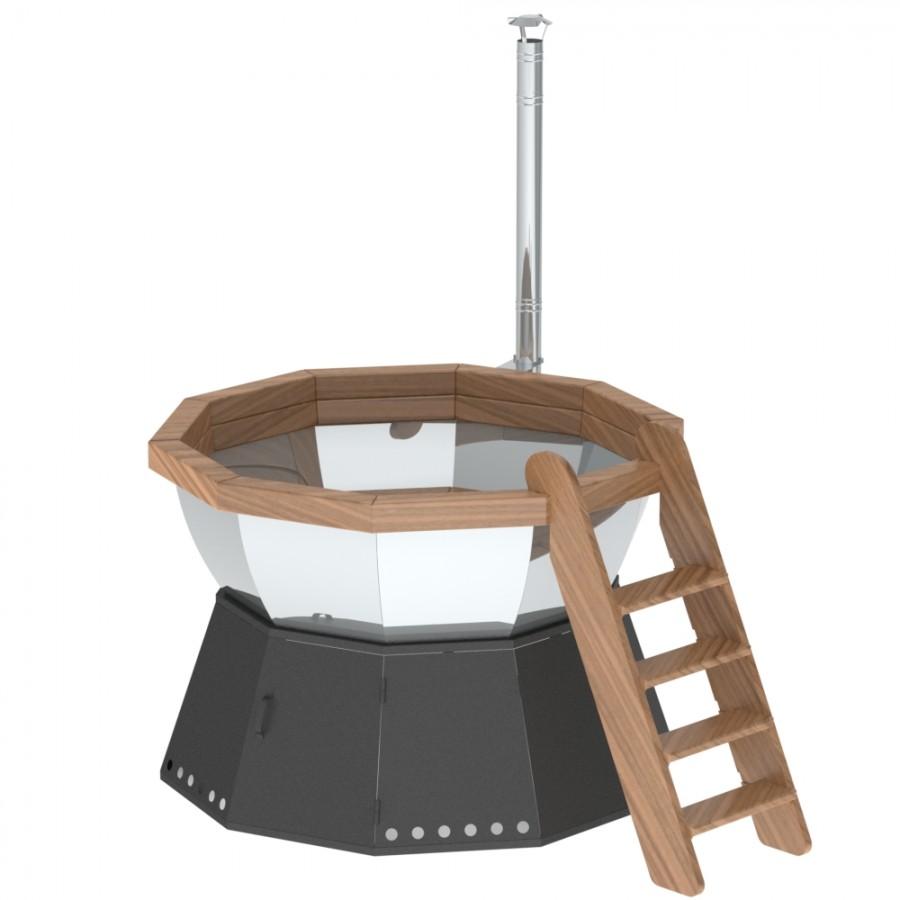 Банный чан для 4-7 человек на подставке с ветрозащитой