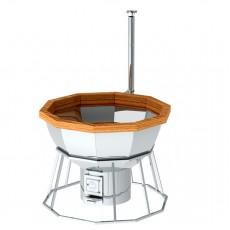 Банный чан для 8-12 человек на подставке с печью
