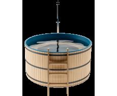 Японская баня Офуро и Фурако на 5-6 человек круглая со встроенной печью и пластиковой вставкой