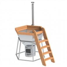 Банный чан для 3-5 человек на подставке с печью